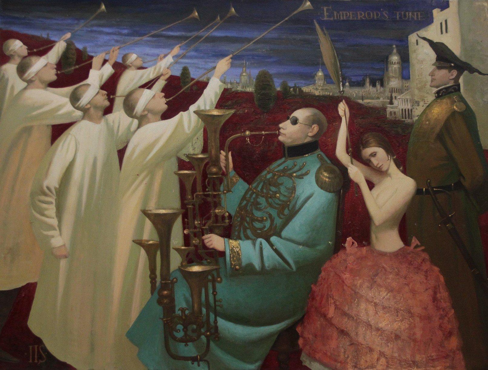 Igor Samsonov - Angelos, Igor Samsonov, Oil on Canvas